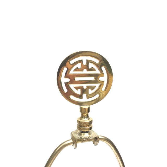 Asian Vintage Asian / Chinese Style Brass Ginger Jar Table Lamp For Sale - Image 3 of 10
