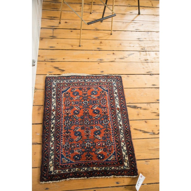 "Vintage Persian Engelas Rug Mat - 2' X 2'6"" For Sale - Image 5 of 7"