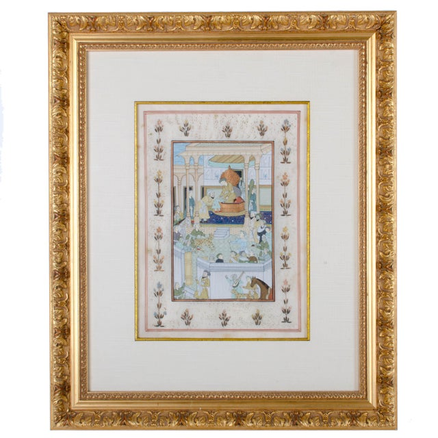 "Offered is a pair of Mughal School miniature paintings. guache on silk sight 9 x 12"" frame 18 x 21 1/2"" These paintings..."