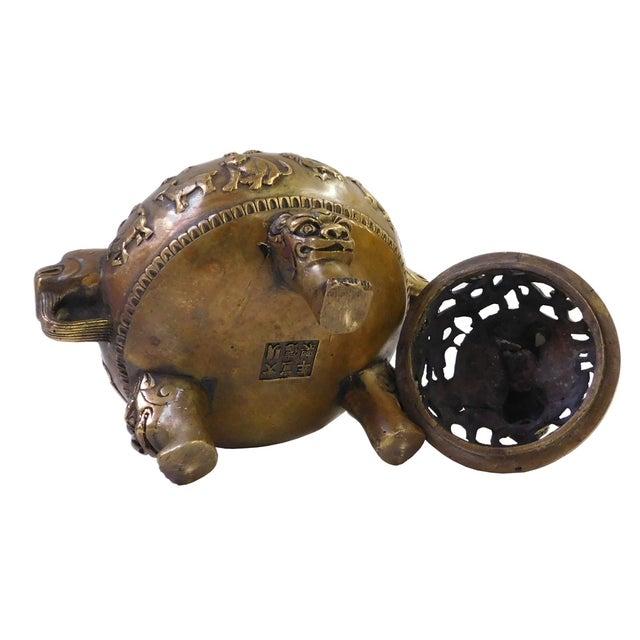 12 Zodiac Bronze Metal Incense Burner - Image 6 of 7