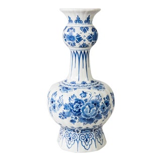 Large Delft Dutch Faience Knobble Vase For Sale