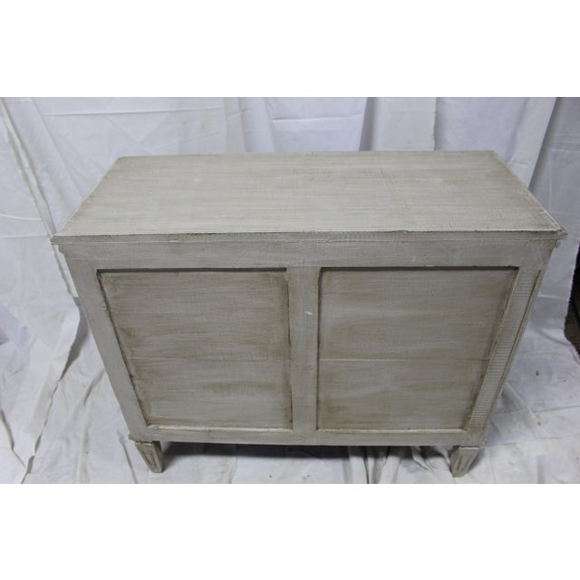 Mid-Century Modern 20th Century Gustavian Taupe Bedside Chests - a Pair For Sale - Image 3 of 8