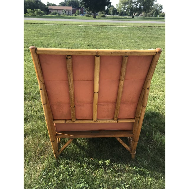 Vintage Mid Century Ficks Reed Patio Outdoor Bentwood Bamboo Sofa, 3 Pieces For Sale - Image 10 of 11