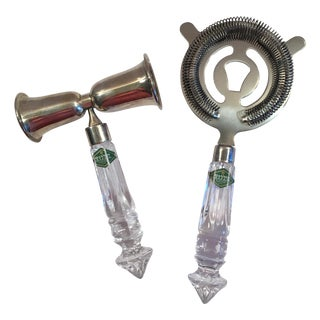 Shannon Crystal Bar Tools - A Pair For Sale