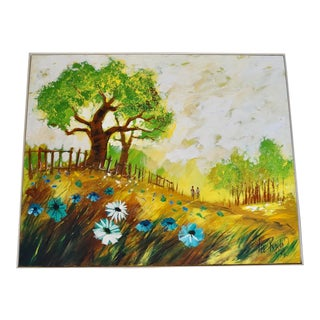 Mid-Century Modern Lee Reynolds Landscape Abstract Painting For Sale