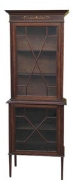 Image of Burnt Umber China and Display Cabinets