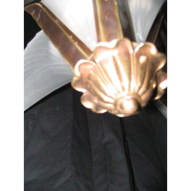 Art Glass Art Nouveau Feather Chandelier For Sale - Image 7 of 13