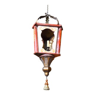 19th Century Italian Wood Lantern For Sale
