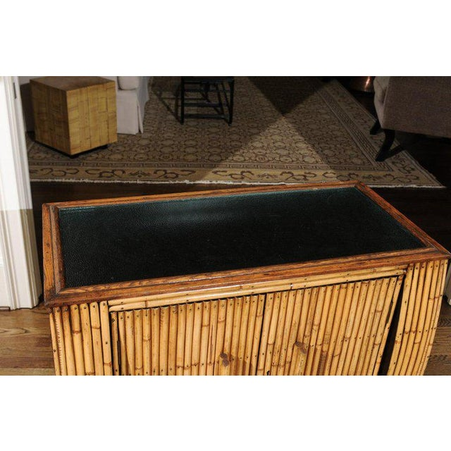 Chic Restored Art Deco Commode in Bamboo and Black Lacquer, Circa 1940 For Sale In Atlanta - Image 6 of 12