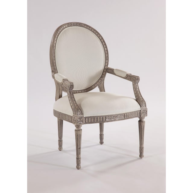 2010s Swedish Oval-Back Dining Arm Chair For Sale - Image 5 of 8