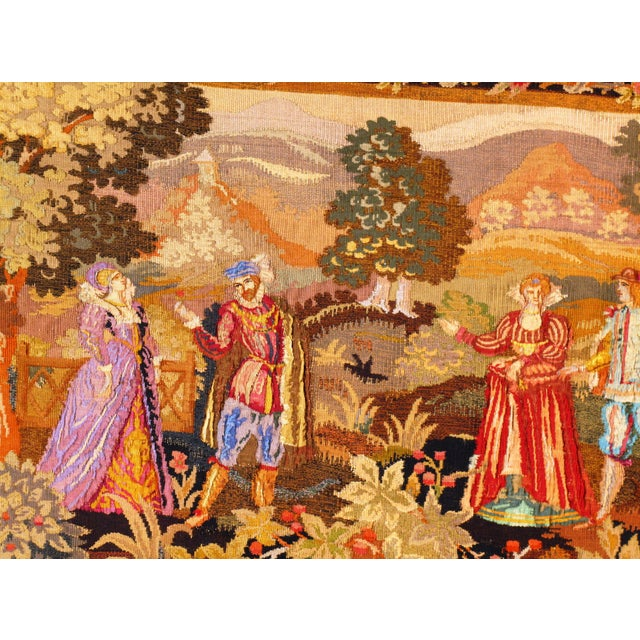 Late 19th Century Antique French Floral Tapestry - 3′4″ × 5′ For Sale - Image 4 of 5