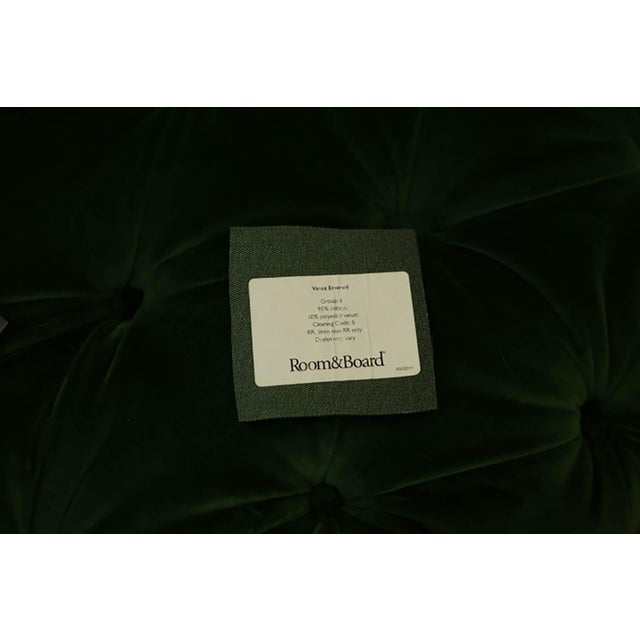 Large Tufted Green Velvet Ottoman For Sale In San Francisco - Image 6 of 7