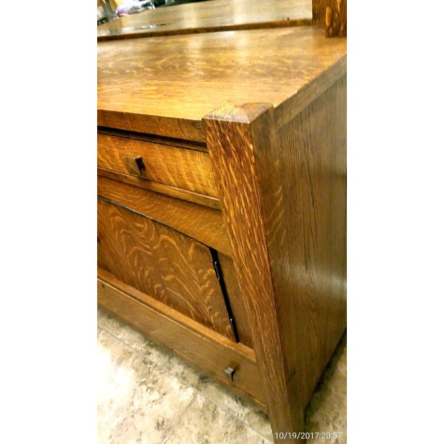 Antique Empire Tiger Oak Buffet For Sale In Phoenix - Image 6 of 7