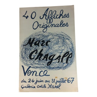Mid-Century Marc Chagall Art Poster For Sale