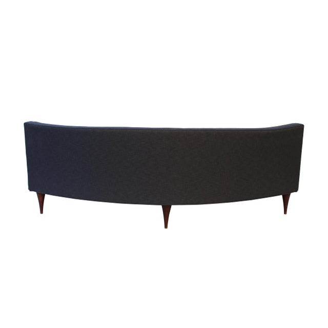 Gray Tufted Mid-Century Settee, Banquette, or Loveseat For Sale - Image 8 of 10
