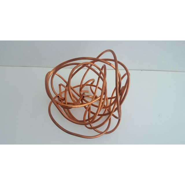 """Copper Original Copper Coil """"Chaos"""" Twisted Knot Sculpture For Sale - Image 7 of 11"""
