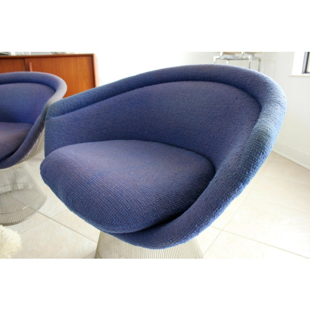 Mid-Century Modern Warren Platner for Knoll Lounge Chairs - a Pair For Sale In Tampa - Image 6 of 11