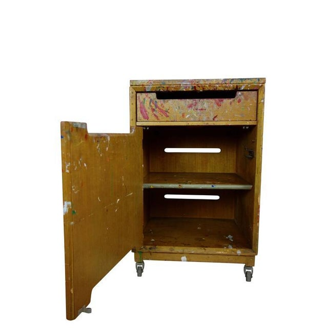 Contemporary Paint Splattered Cabinet From an Artist Studio For Sale - Image 3 of 10