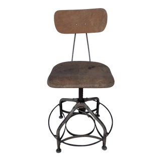 Vintage Advance Tall Drafting Stool Desk Chair For Sale