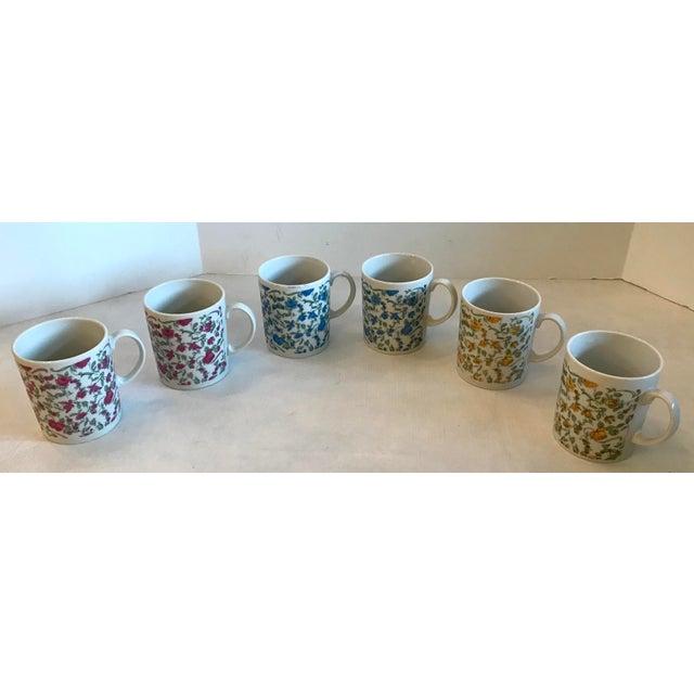 Vintage Japanese Ceramic Tea or Coffee Mugs - Set of 6 For Sale - Image 12 of 12