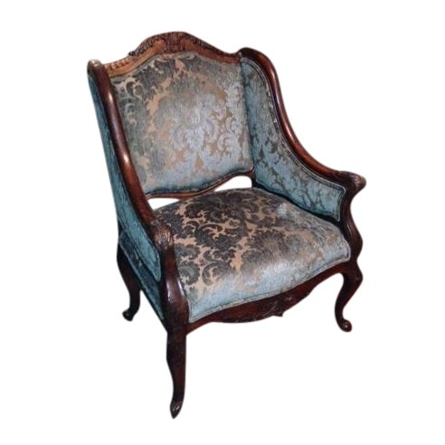 Handcrafted French Louis XV Style Bergere Chair - Image 1 of 10