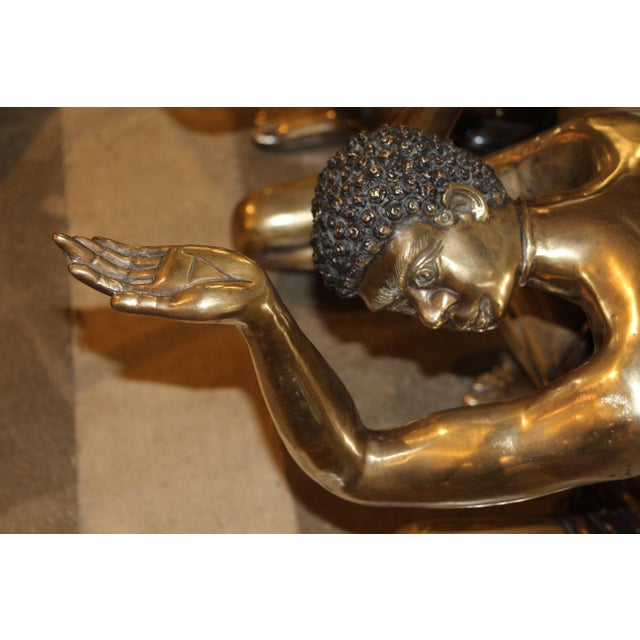 A nice pair of Brass Blackamoors coffee table bases from the 1950's. These are most likely Italian. These have been...