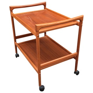 Dyrlund Danish Teak Rolling Cart For Sale