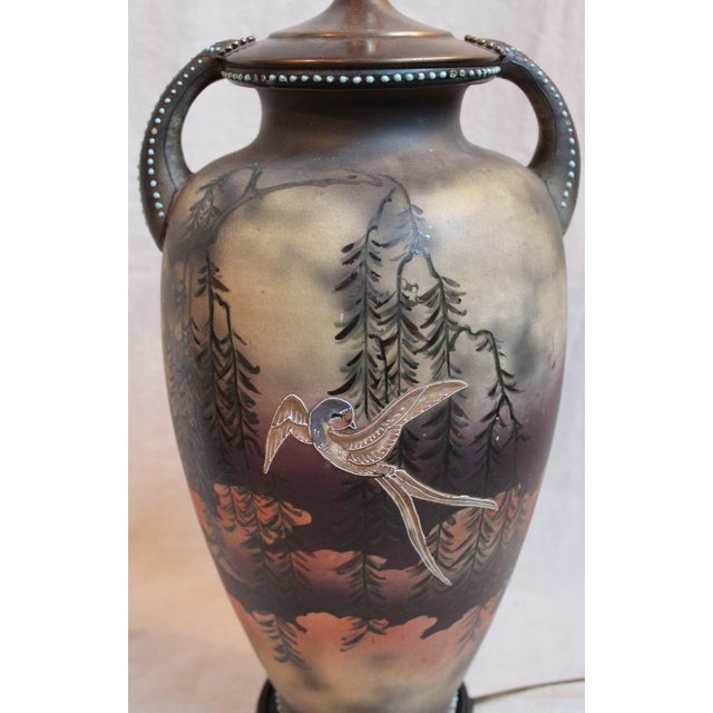 1910s Japanese Vase Lamp For Sale - Image 5 of 9