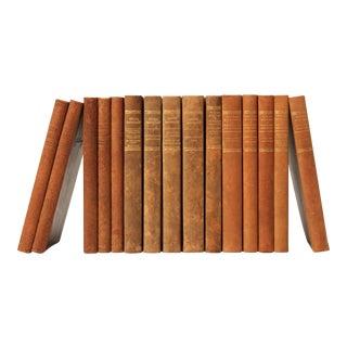 Scandinavian Leather-Bound Books S/15