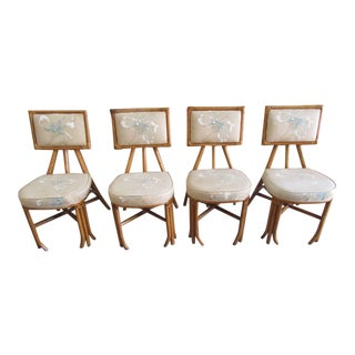 1950s Bamboo Chair Set - 4 Pieces For Sale