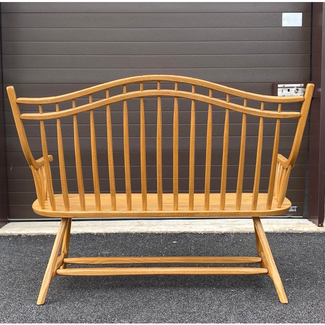 Queen Anne Hunt Country Furniture Queen Anne Settee For Sale - Image 3 of 13