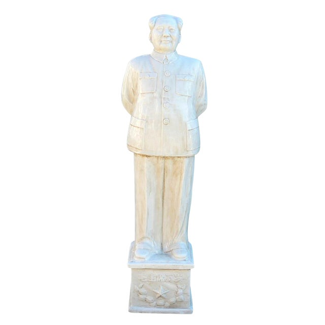 Chinese Large Porcelain White Standing Chairman Mao Figure cs1212 For Sale