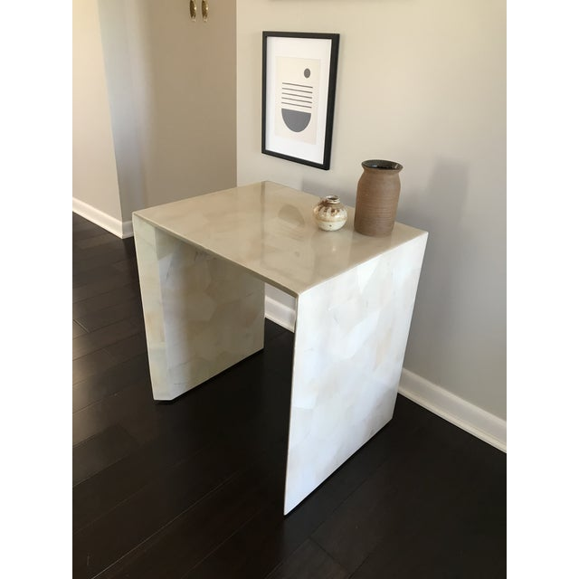 Made Goods Modern Made Goods Sleek Faux Horn Side Table For Sale - Image 4 of 13