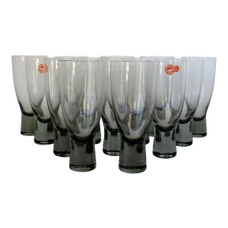 Holmegaard Smoke Glasses, Set of 14 For Sale