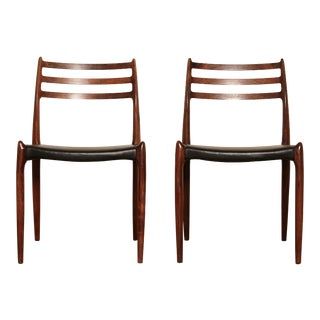 Model 78 Rosewood Chairs by Niels O. Møller, Denmark, 1960s For Sale