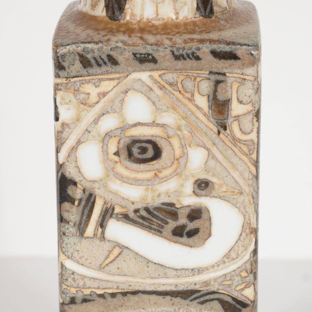 Mid-Century Modernist Ceramic Danish Vase with Geometric Designs, Nils Thorsson For Sale In New York - Image 6 of 9