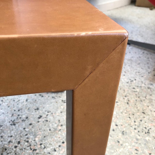 A Pair of Classic Leather Occasional Tables For Sale In Tampa - Image 6 of 8