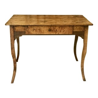 19th Century French Pine Writing Desk For Sale