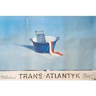 Original 1991 Polish Theater Poster, Trans-Atlantyk Boleslaw Polnar