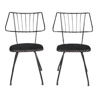 Vintage Mid Century Iron Chairs - a Pair For Sale