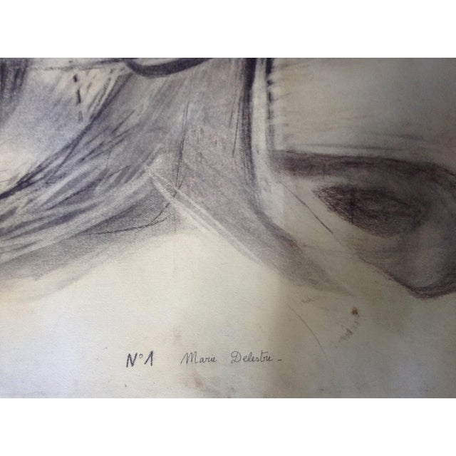 Vintage Abstract No. 1 Charcoal - Image 4 of 4
