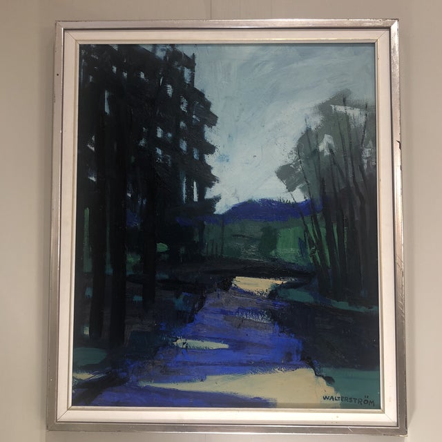 """1960s """"Twilight at the Edge of the Forest"""" Painting For Sale - Image 5 of 13"""