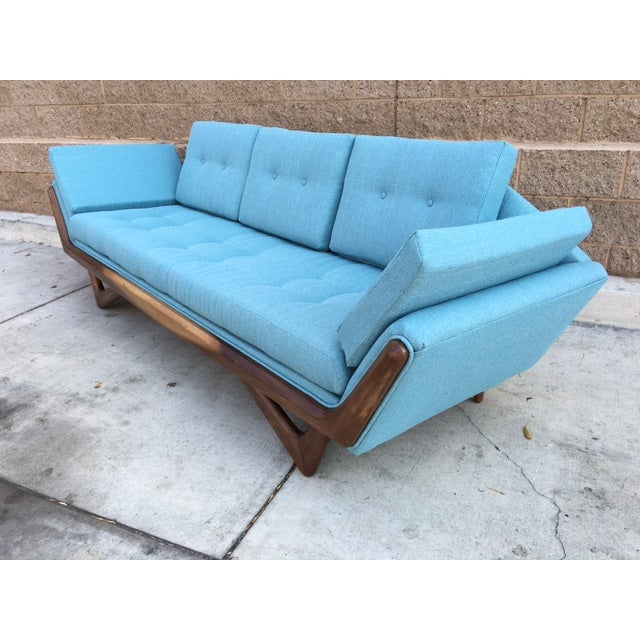 Mid-Century Sculptural Sofa in Powder Blue - Image 4 of 6