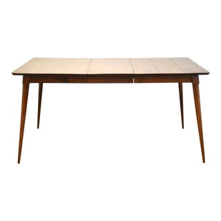 Mid-Century Modern Maple Extendable Dining Table For Sale