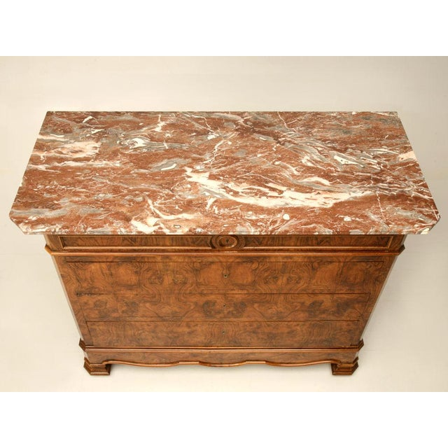 C.1860 Louis Philippe Book-Matched Burled Walnut Commode - Image 4 of 10