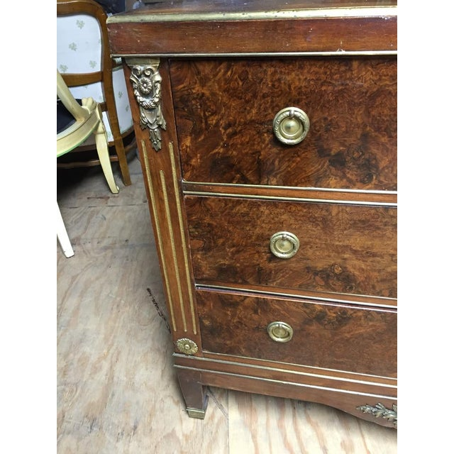 Empire Style Mahogany & Burl Commode For Sale - Image 5 of 7