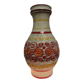 1960s Vintage West German Pottery Vase For Sale