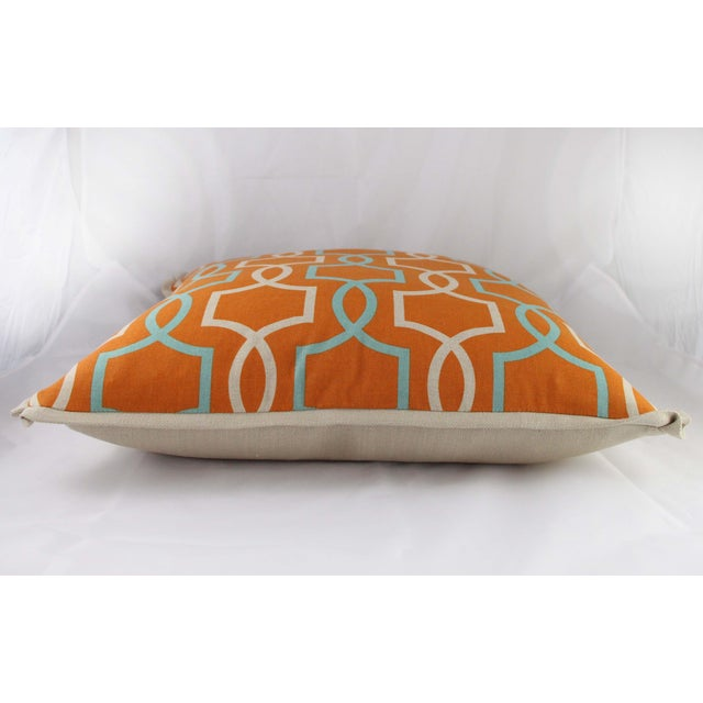 Orange Casey Linen Pillow - Image 6 of 7