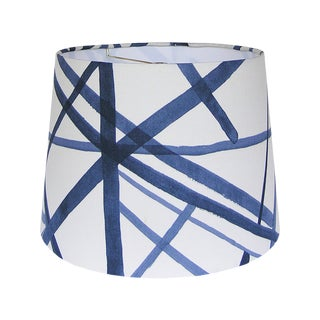 Modern Blue Graphic Lamp Shade For Sale