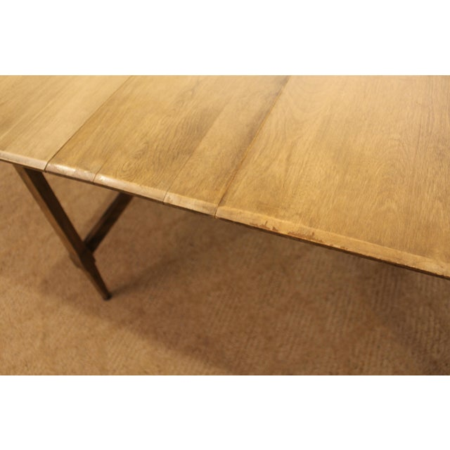 Mid-Century Modern Heywood Wakefield Cadence Sable Drop Leaf Dining Table For Sale - Image 10 of 11
